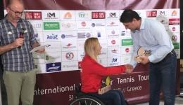 O Δήμαρχος παρευρέθηκε στην βράβευση των νικητών του 4ου Διεθνές Τουρνουά Τένις με αμαξίδιο.