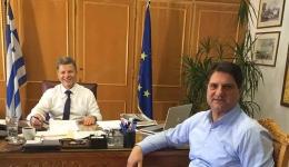 Συνάντηση του Δημάρχου με τον Αντιπεριφερειάρχη με σκοπό την επίλυση ζήτημάτων του Δήμου.