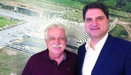 Επίσκεψη του Δημάρχου στον πρόεδρο του <<Διαζώματος>> Σταύρο Μπένο στην Αθήνα.