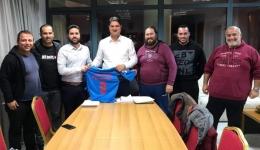 Επίσκεψη στο Γραφείο του Δημάρχου απο τα μέλη της Διοίκησης της ποδοσφαιρικής ομάδας <<Ολυμπιακός Ανάληψης>>.