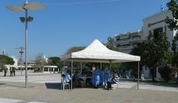 Συνολικά  244 rapid tests έγιναν σήμερα στην πλατεία, ένα θετικό